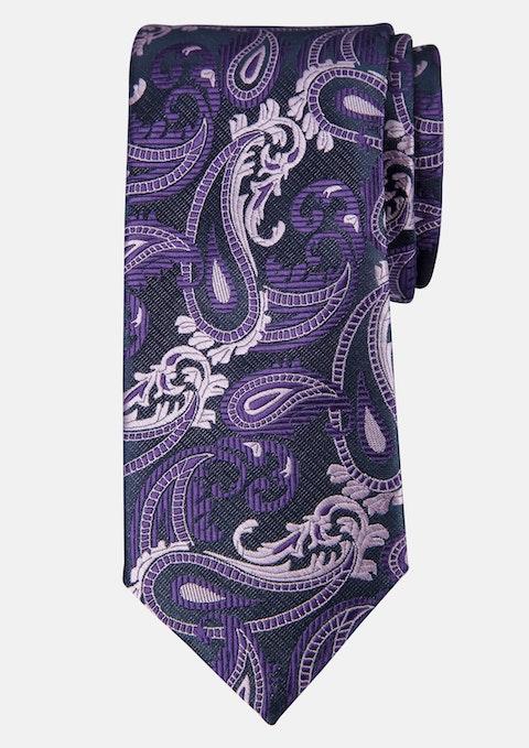 Purple Paisley Tie 7cm