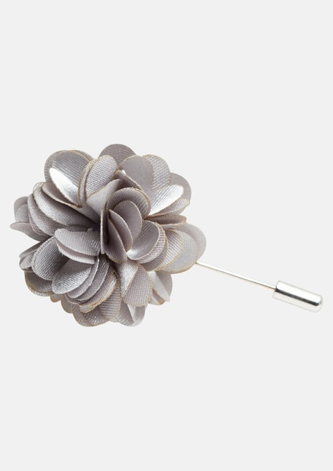 Silver Floral Lapel Pin