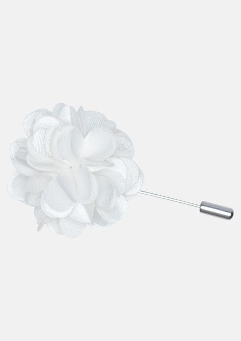White Floral Lapel Pin