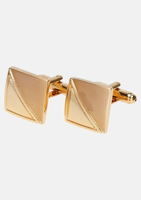 Gold Two Tone Cufflinks