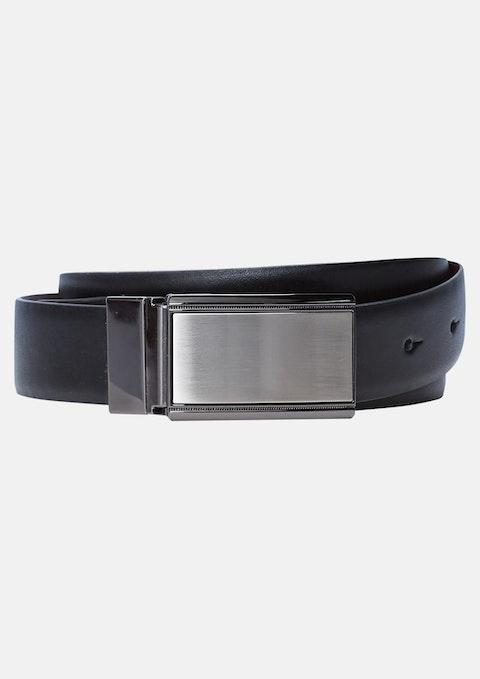 Choc/blk Warhol Reversible Belt