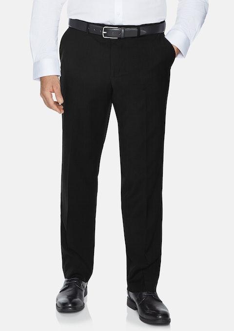 Black Premier Stretch Elastic Waist Pant