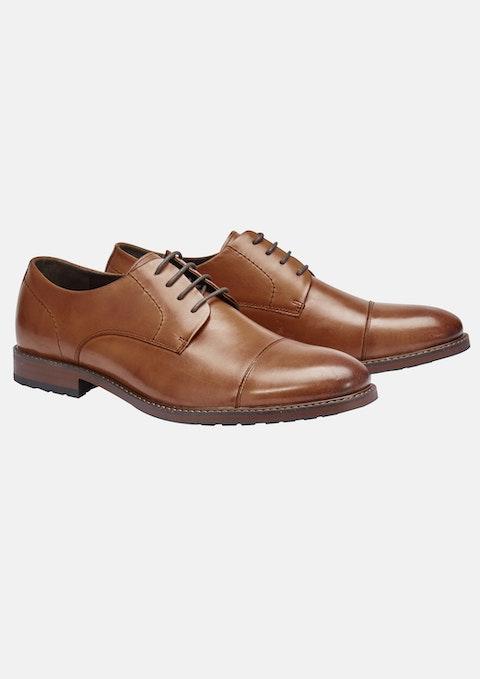 Tan James Wide Dress Shoe
