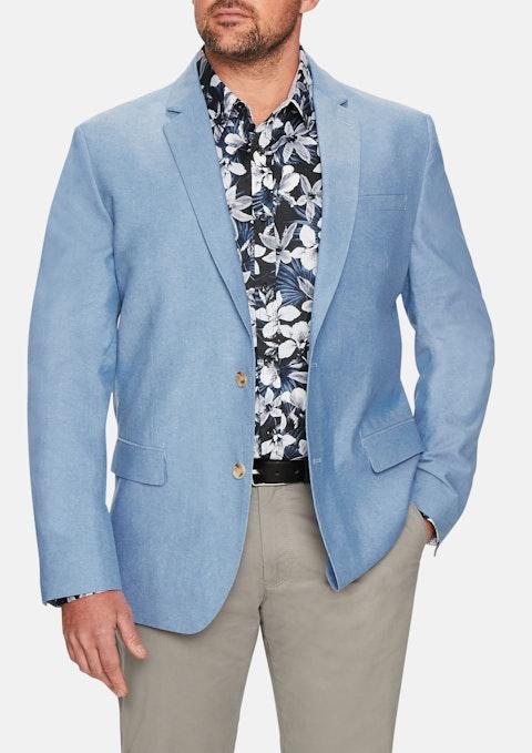 Blue Oasis Cotton Blazer