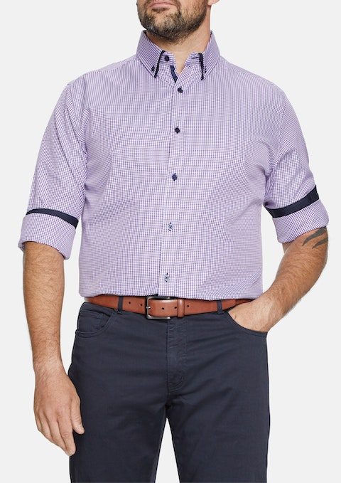 Berry Clive Check Shirt