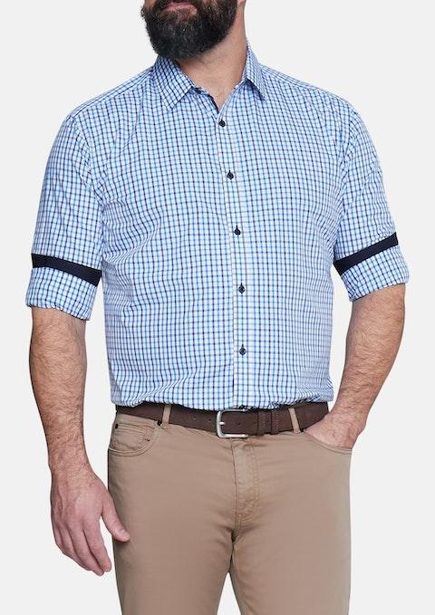 Blue Kenneth Check Shirt