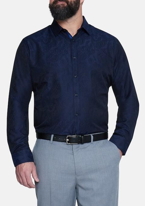 Navy Lucien Jacquard Shirt