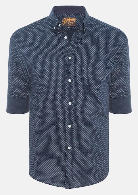 Navy Rosebery Print Shirt