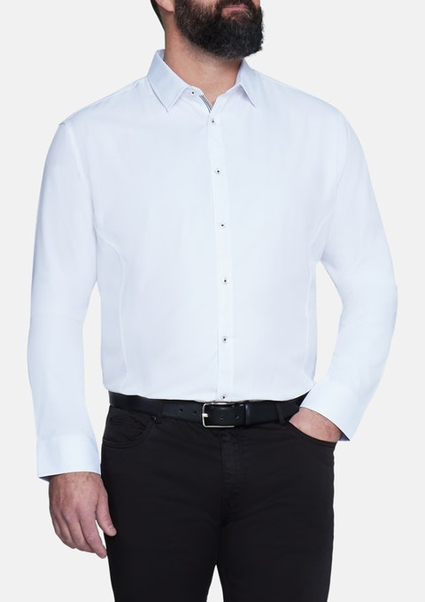 White Ford Textured Shirt