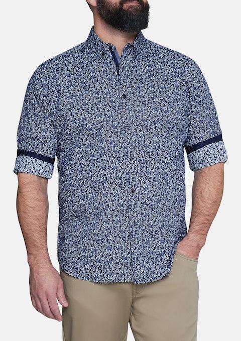 Navy Maurice Floral Print Shirt
