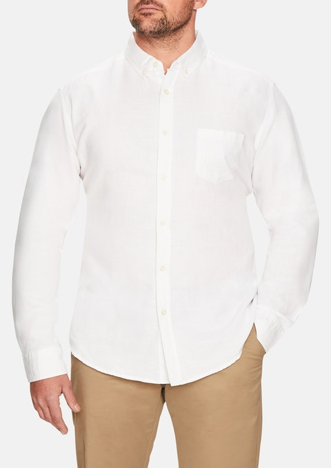 White Elliott Linen Shirt