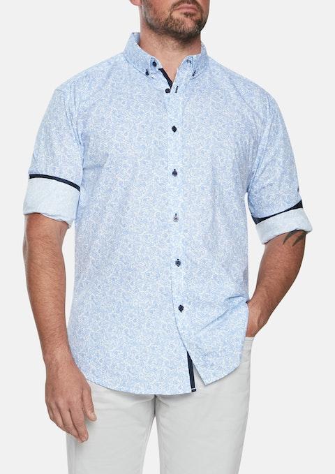 Blue George Paisley Print Shirt