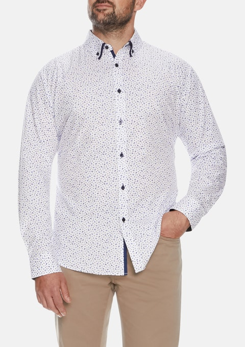 Navy Cali Floral Shirt