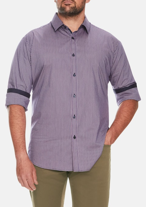 Berry Kensington Check Stretch Shirt