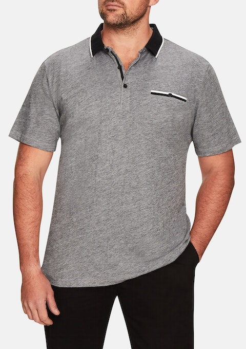 Charcoal Daly Pique Polo