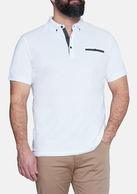 White Azzarro Polo