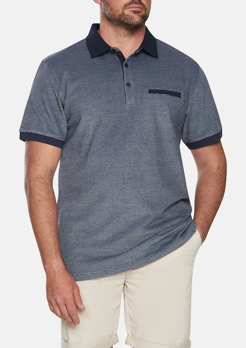 Navy Harry Pique Polo