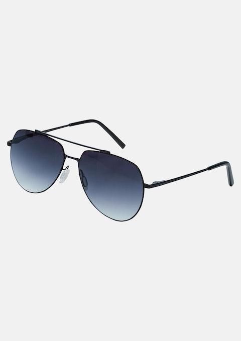 Black Wolfe Metal Sunglasses
