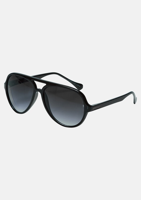 Black Montana Plastic Sunglasses