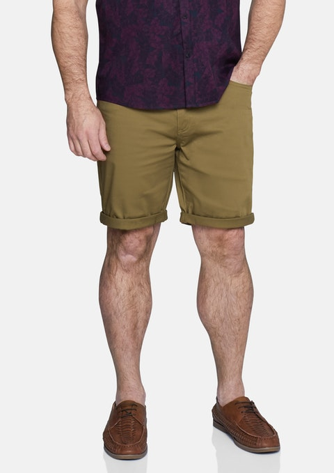 Mustard Benji Stretch Short