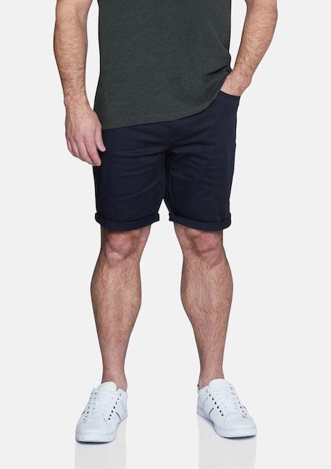 Navy Benji Stretch Short