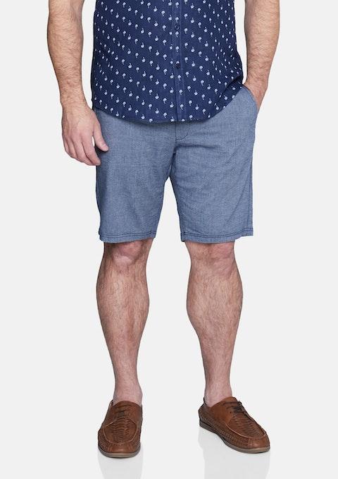 Navy Harris Textured Short