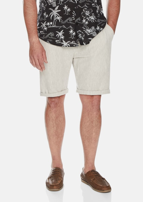 Sand Byron Linen Blend Short
