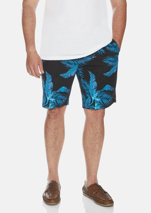 Blue Slater Fern Swim Shorts