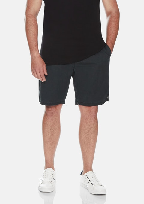 Black Vintage Wash Swim Shorts