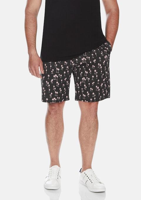 Black Bodhi Palms Swim Shorts