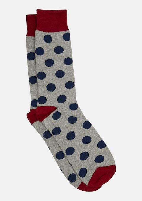 Grey Marle Spots Fancy Sock