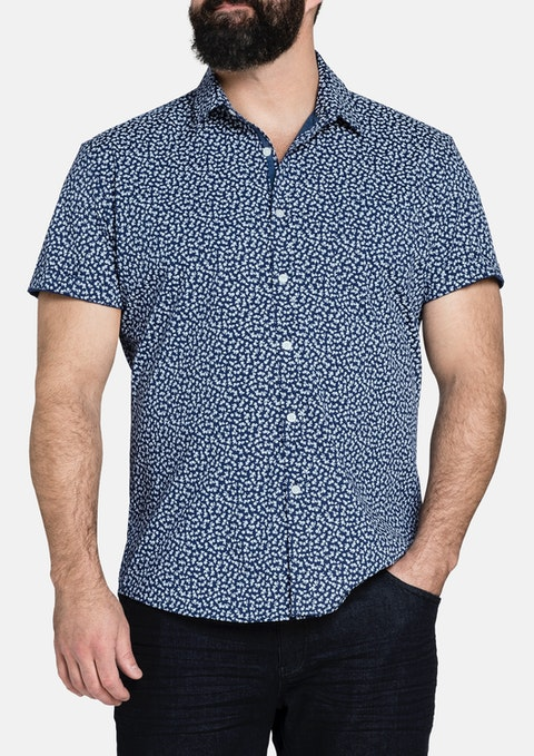 Navy Sid Stretch Shirt