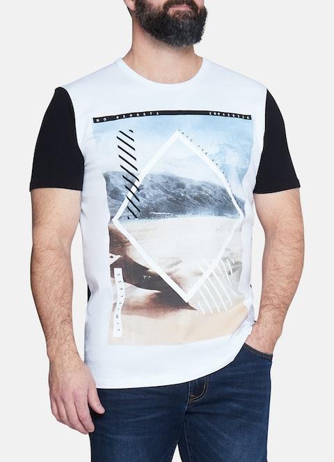 White Ranges Print Longline Tee