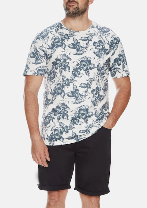 Ice Costa Floral Print Crew Tee