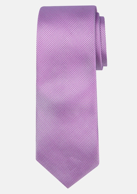 Lilac Two Tone Tie 7cm