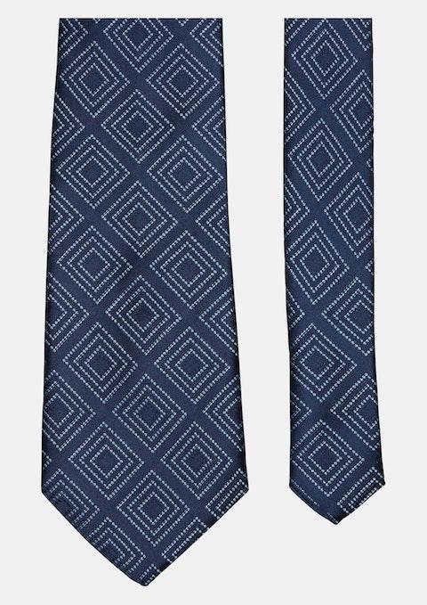 Blue Contrast Squares Tie 8.5cm