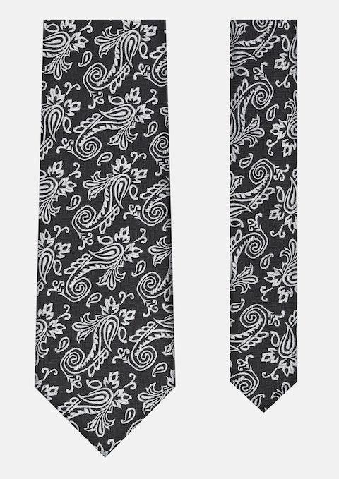 Black Small Paisley Tie 7cm