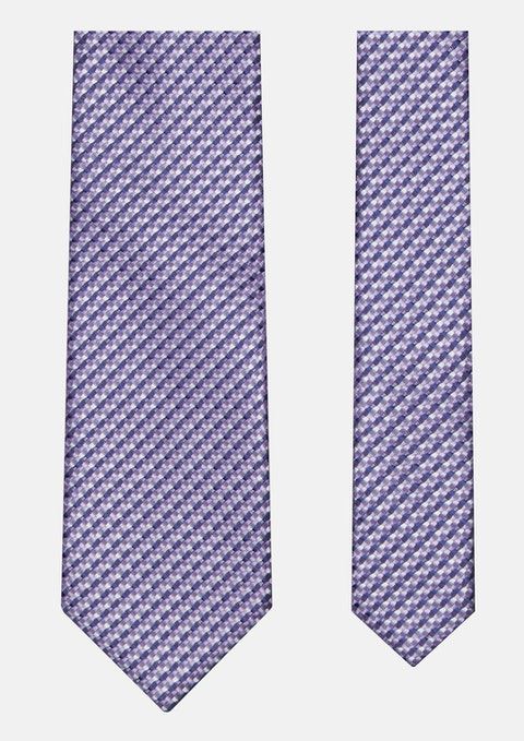 Purple Textured Tie 7cm