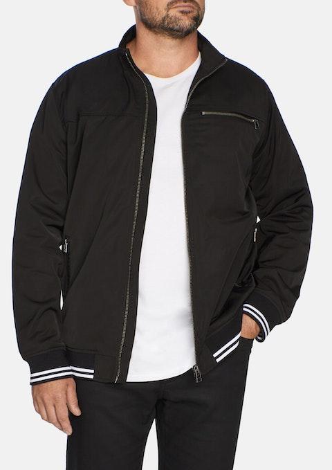 Black Retro Sports Jacket
