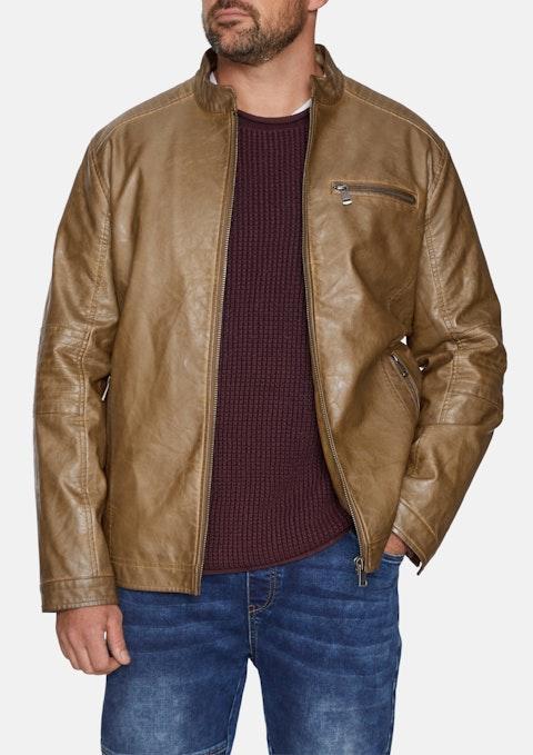 Tan Benson Biker Jacket
