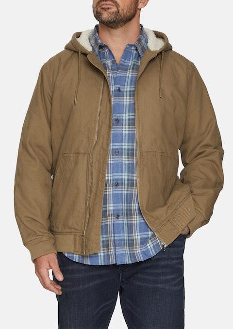 Mustard Canvas Hood Jacket