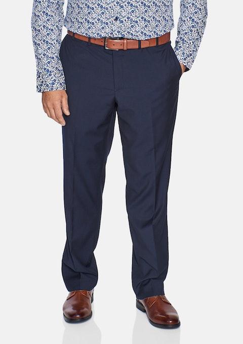 Navy Essential Elastic Waist Pant