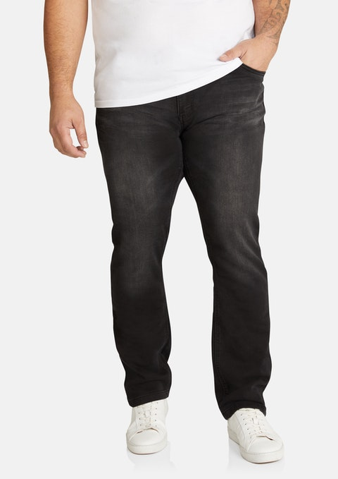 Black Livingstone Regular Stretch Jean