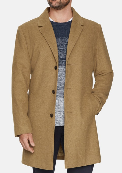 Camel Oxford Melton Coat