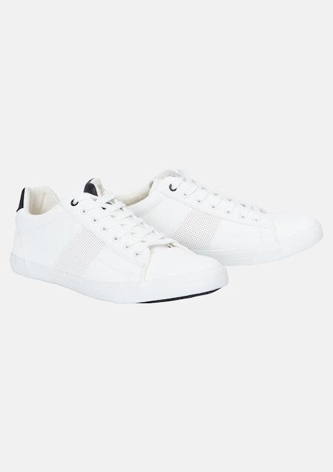 White Jordan Wide Sneaker