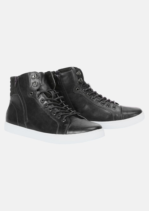 Black Bromley Wide High Top