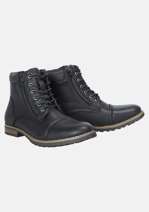 Black Heston Wide Boot