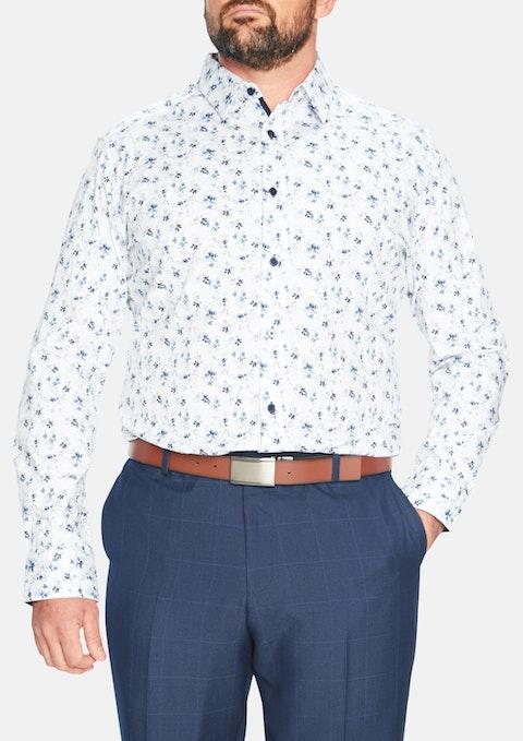 White Harlem Stretch Floral Shirt