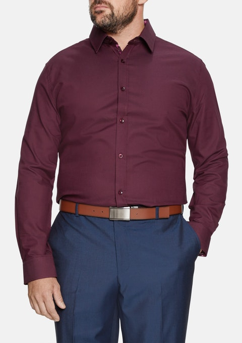 Burgundy Orleans Cuff Shirt