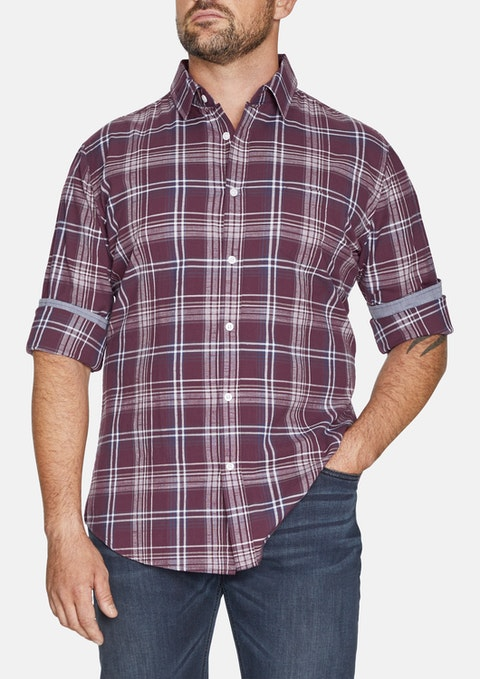 Burgundy Richmond Check Shirt